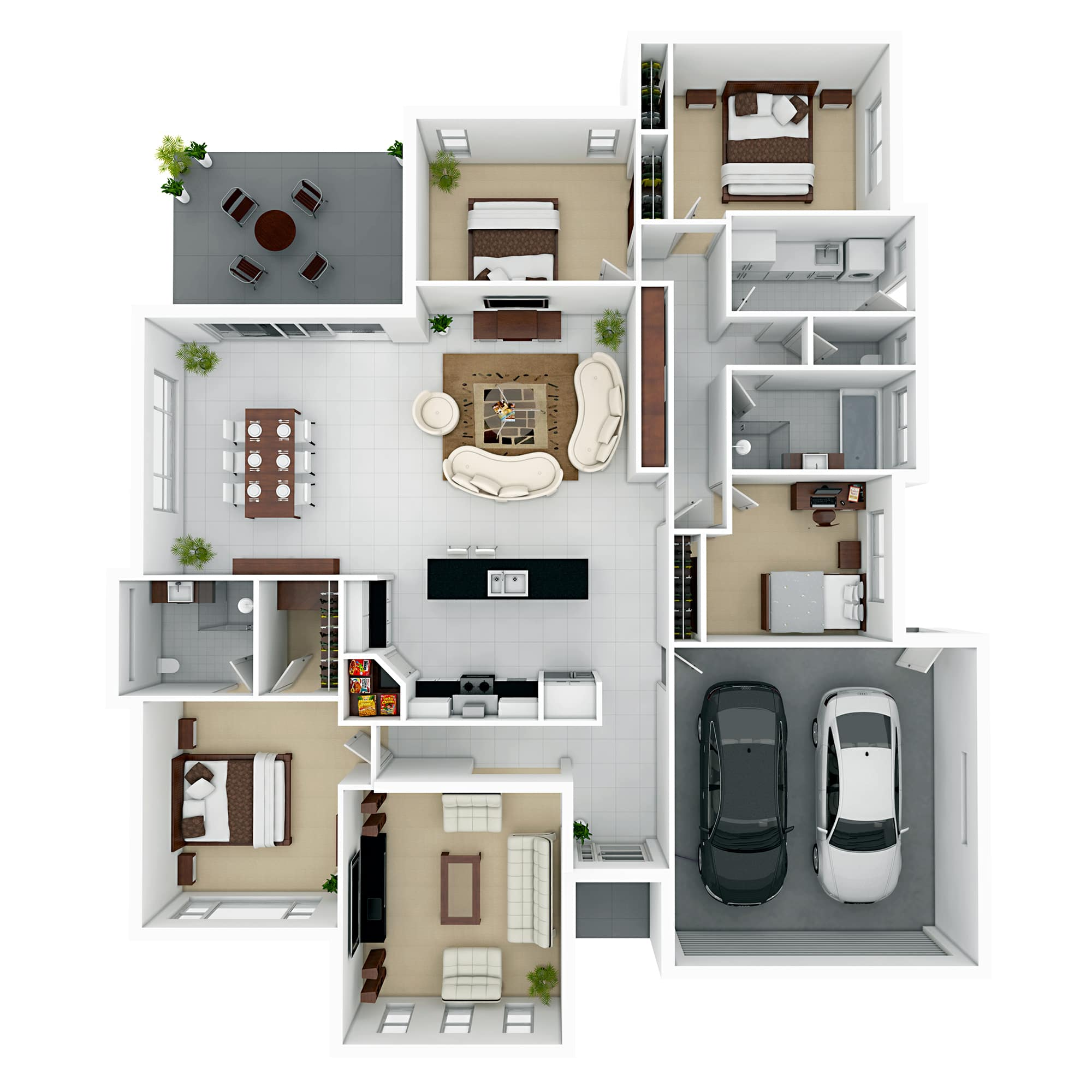 3d floor plans 3d design studio floor plan company for Home plan 3d