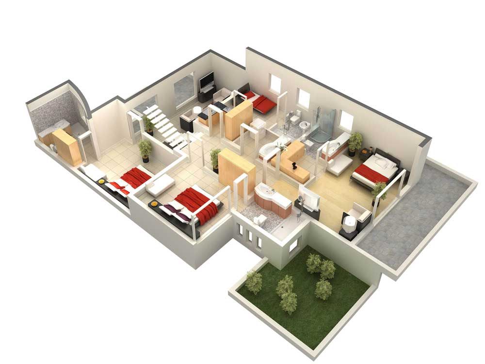 3d floor plans 3d design studio floor plan company. Black Bedroom Furniture Sets. Home Design Ideas