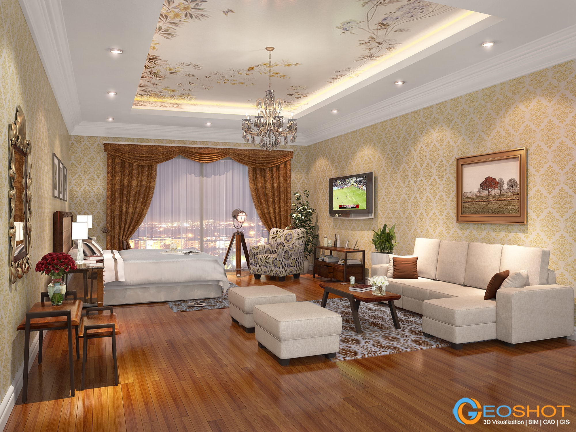 Renders 3d For Master Bedroom Project: Interior Design Rendering